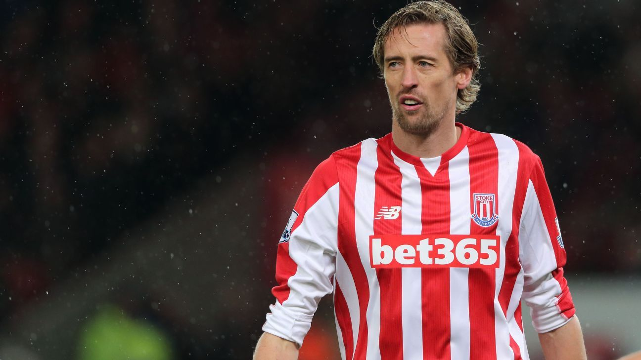 Peter Crouch has yet to start a Premier League match this season for Stoke.