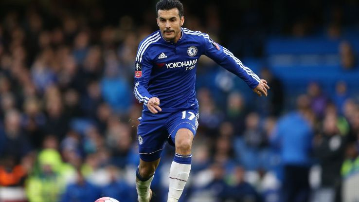 Pedro has just two Premier League goals this season for Chelsea.