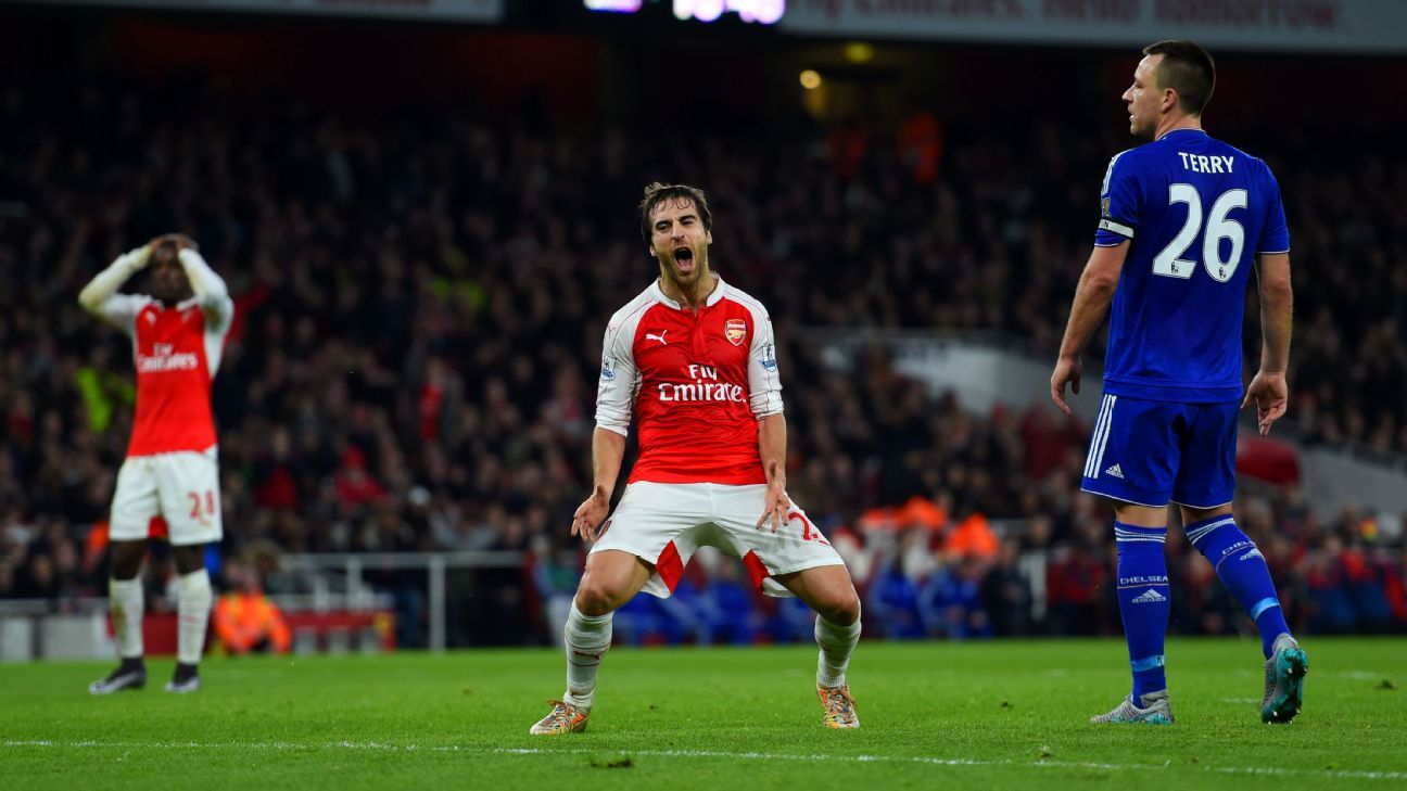 Mathieu Flamini was all too happy to push forward in attack, which left Arsenal exposed against Chelsea.