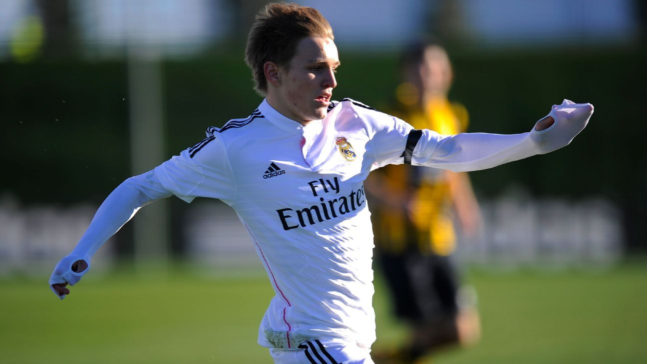 Martin Odegaard has spent the vast majority of his Real Madrid tenure playing with the club's reserve side.