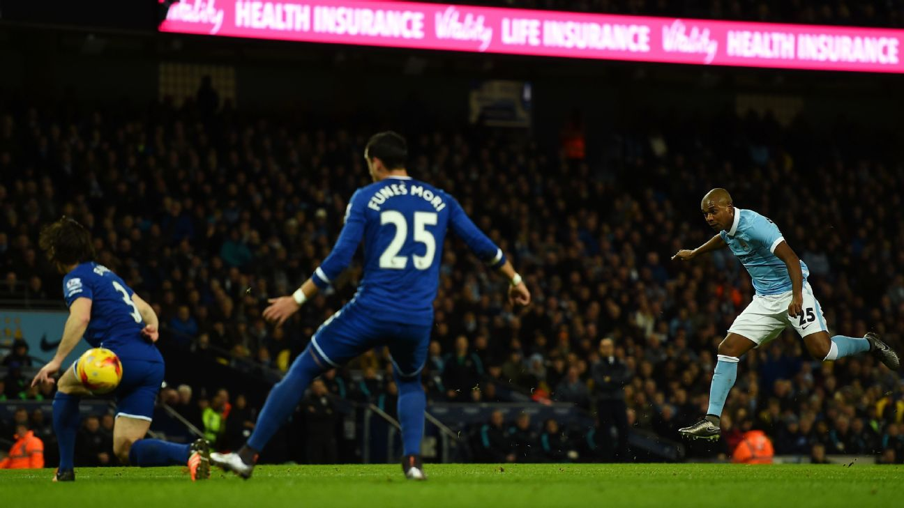 Fernandinho's endless amount of energy was crucial for Manchester City in Wednesday's triumph over Everton.