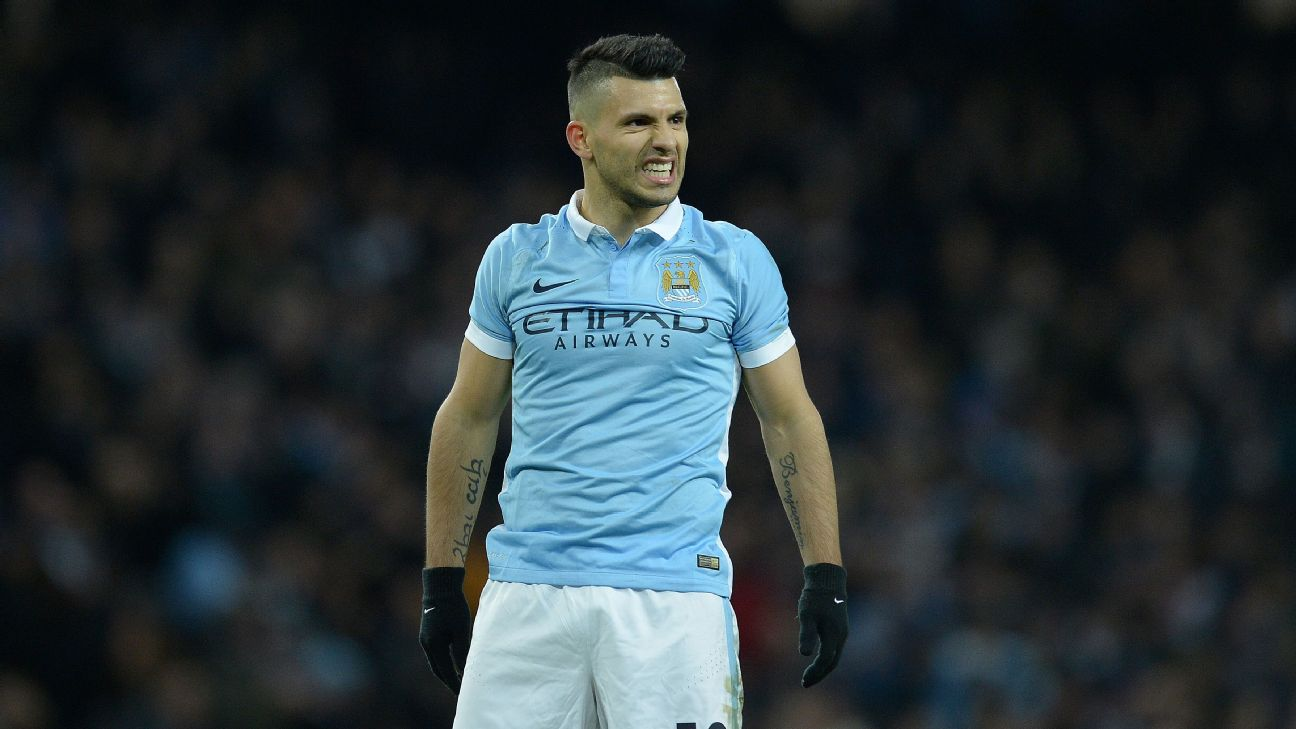 Manchester City striker Sergio Aguero was a menace all evening long and sealed the tie with a 76th-minute goal.