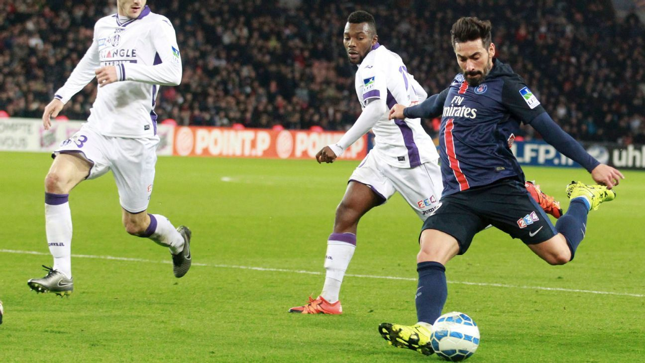 Lavezzi PSG vs Toulouse League Cup