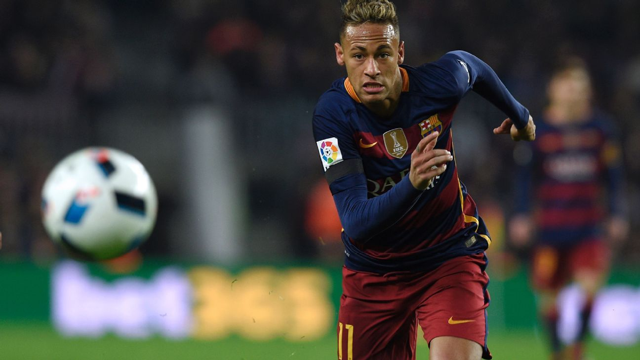 Neymar's efforts finally bore fruit with a goal in second half stoppage time for Barcelona against Athletic.