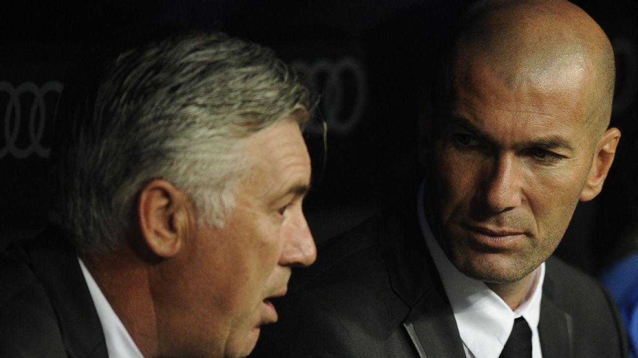 Carlo Ancelotti and Zinedine Zidane