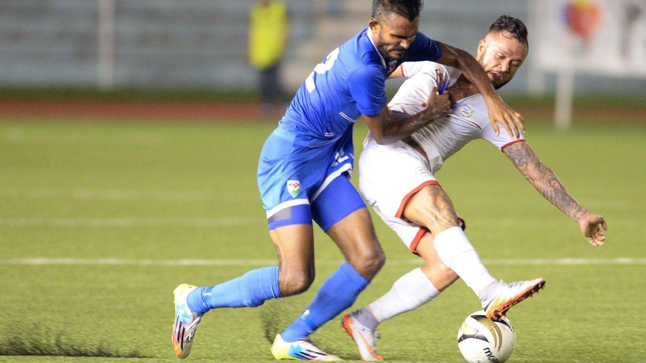 Philippines midfielder Stephan Schrock