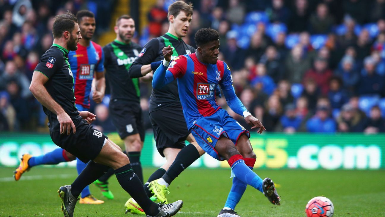 Wilfried Zaha served up one of his best displays of the season in Crystal Palace's 1-0 FA Cup win over Stoke.