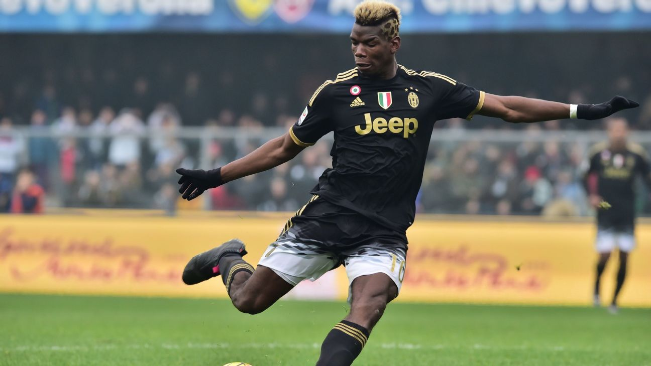 Paul Pogba capped off his stellar day with Juventus' fourth goal in the 67th minute.