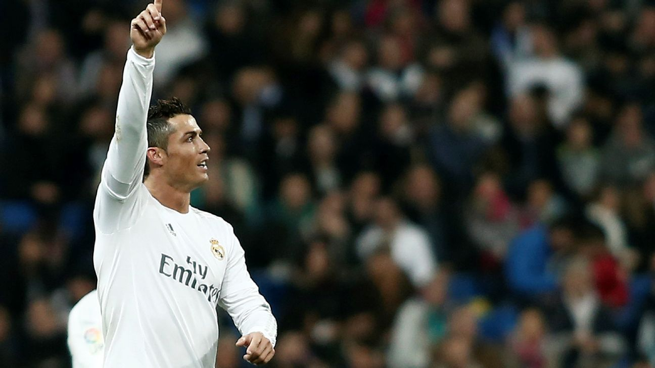 Cristiano Ronaldo was all smiles after completing his hat trick late in the second half against Espanyol.