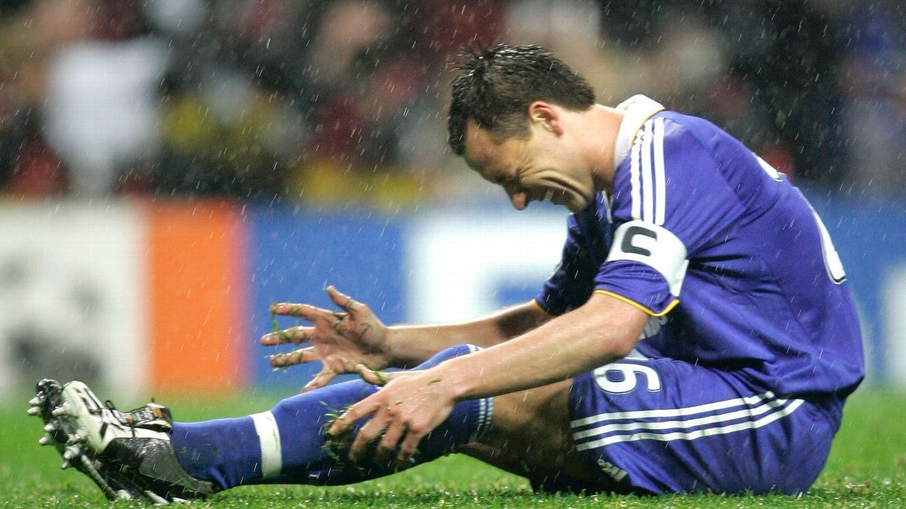 With the 2007-08 Champions League on his boot, John Terry slipped and missed his penalty, paving the way for Manchester United to become continental champions.