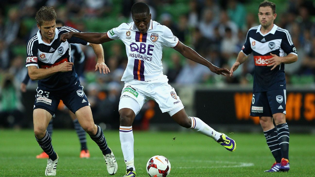 Perth Glory striker Ndumba Makeche