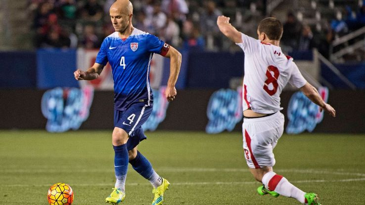 Michael Bradley was a commanding presence in midfield for the U.S. against Canada on Friday night.