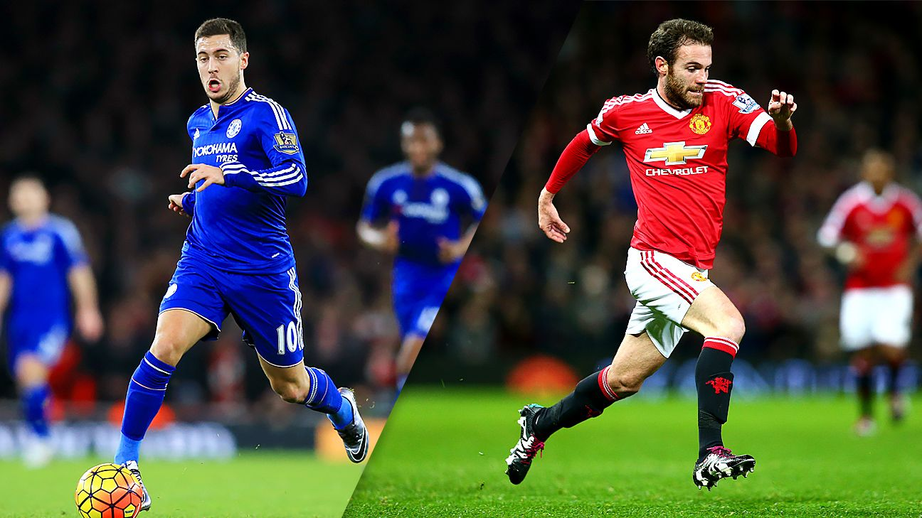 Things have not gone as planned this season for Chelsea's Eden Hazard and Manchester United's Juan Mata.