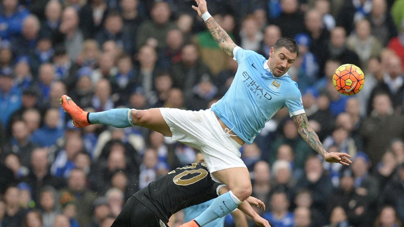 Manchester City defender Aleksandar Kolarov struggled at both ends of the pitch against Leicester City.