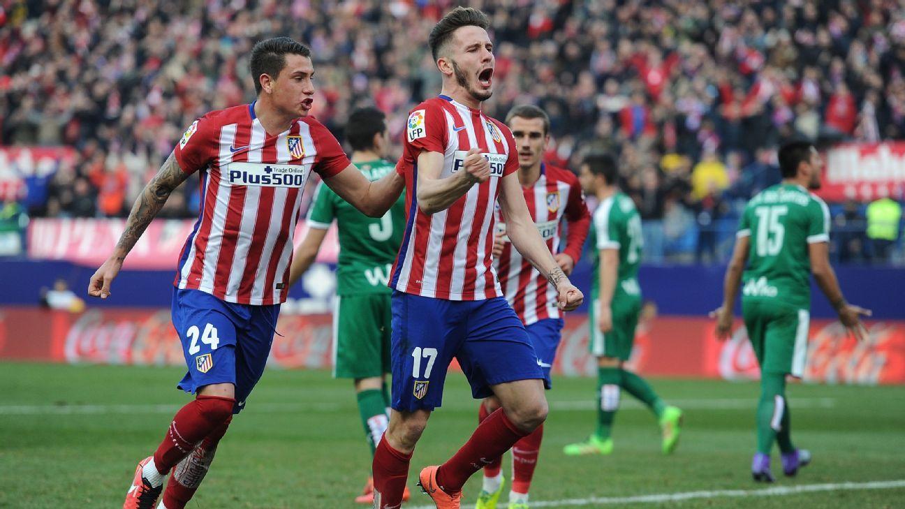 Saul Niguez's 63rd minute header helped Atletico roar back against Eibar.