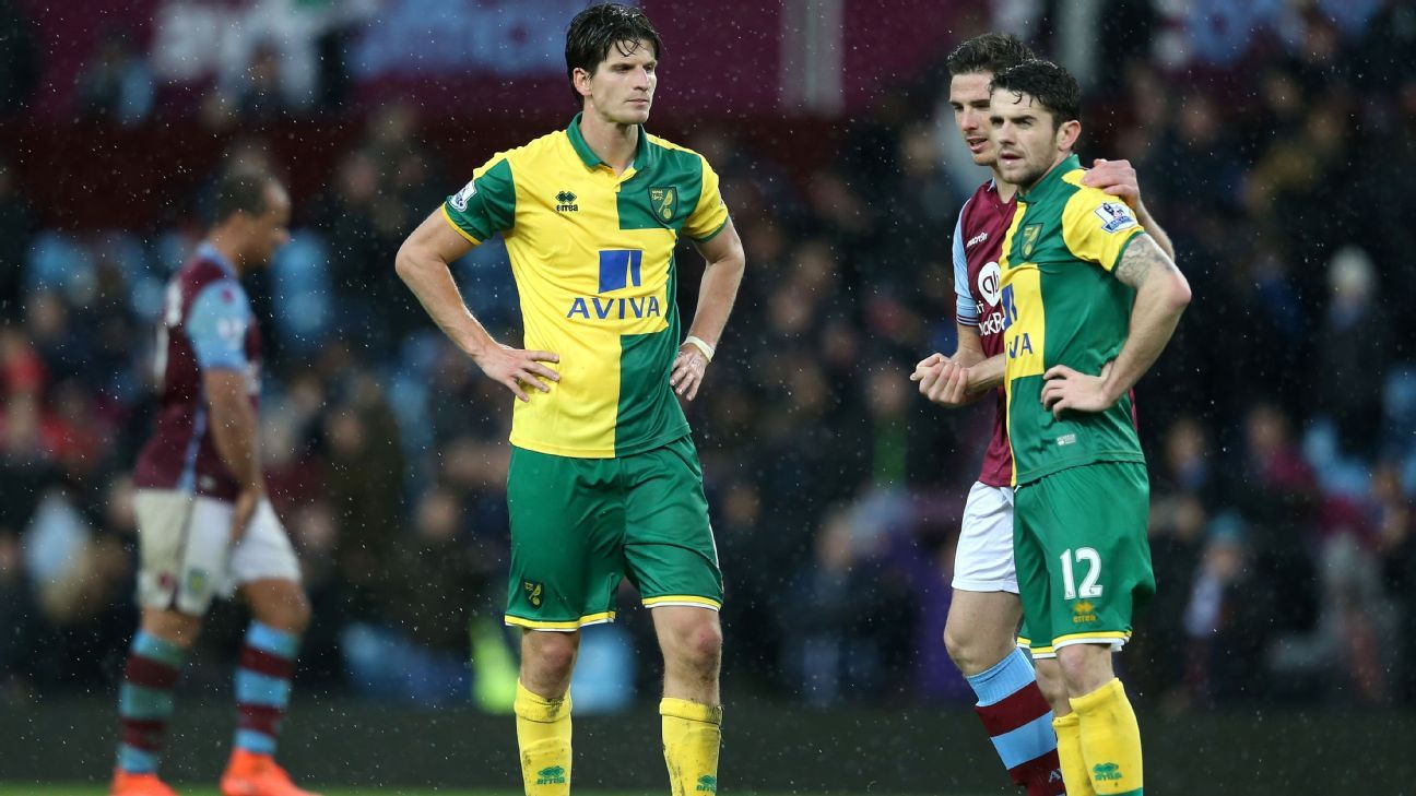Norwich City have now lost six straight matches in all competitions following Saturday's dismal 2-0 defeat to Aston Villa.