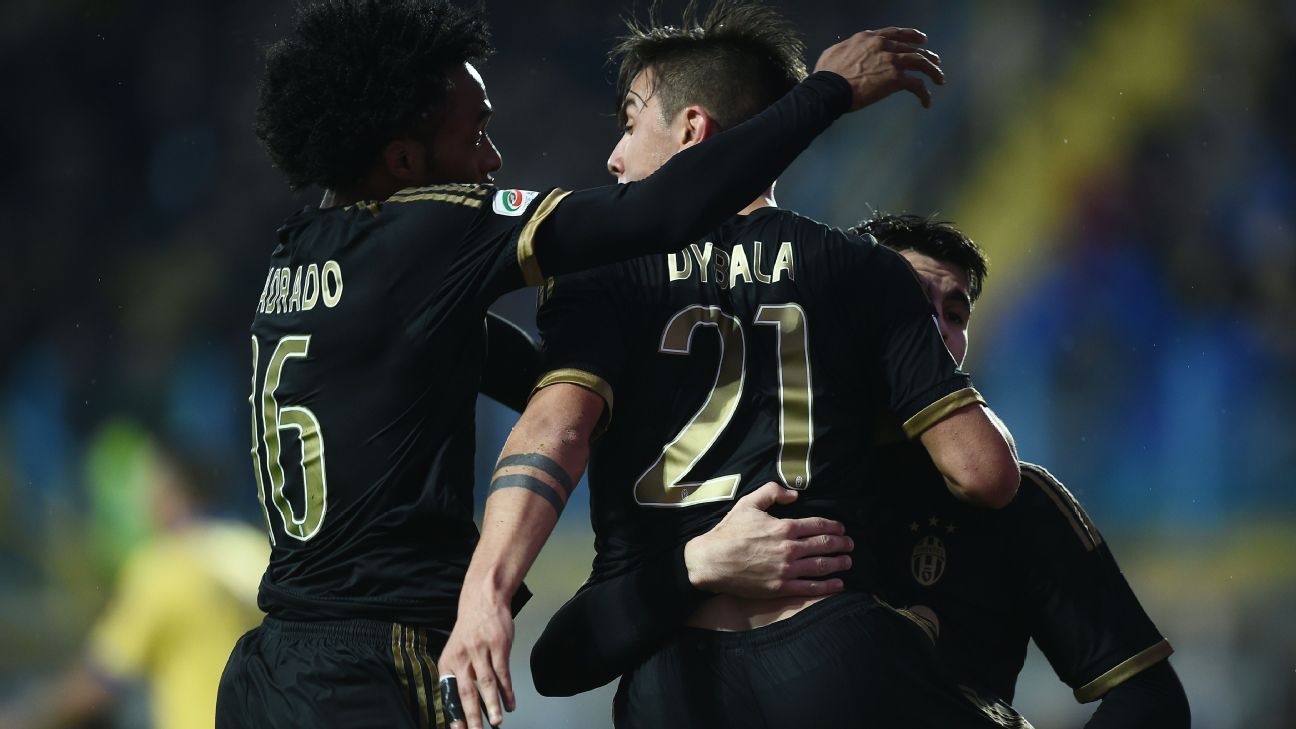 Juan Cuadrado and Paulo Dybala