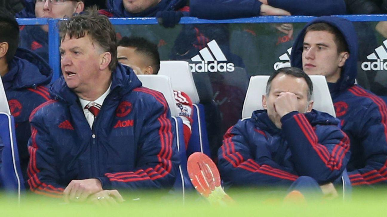 Van Gaal Giggs woe vs Chelsea 160207