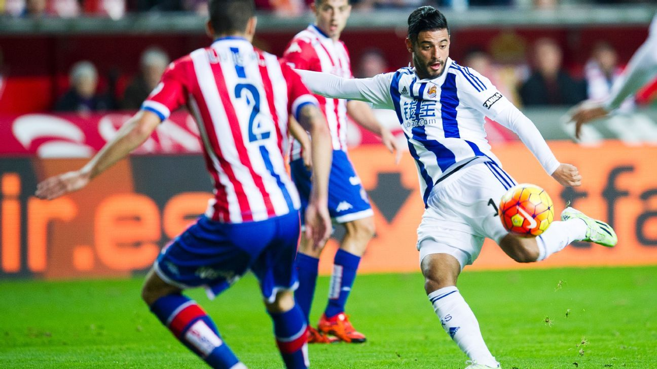 Carlos Vela has just four goals this season in La Liga for Real Sociedad.