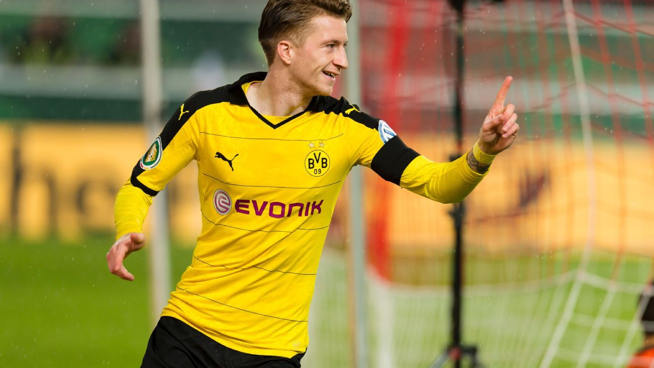 Marco Reus got Dortmund off on the right foot in the fifth minute with his 11th goal of the season.