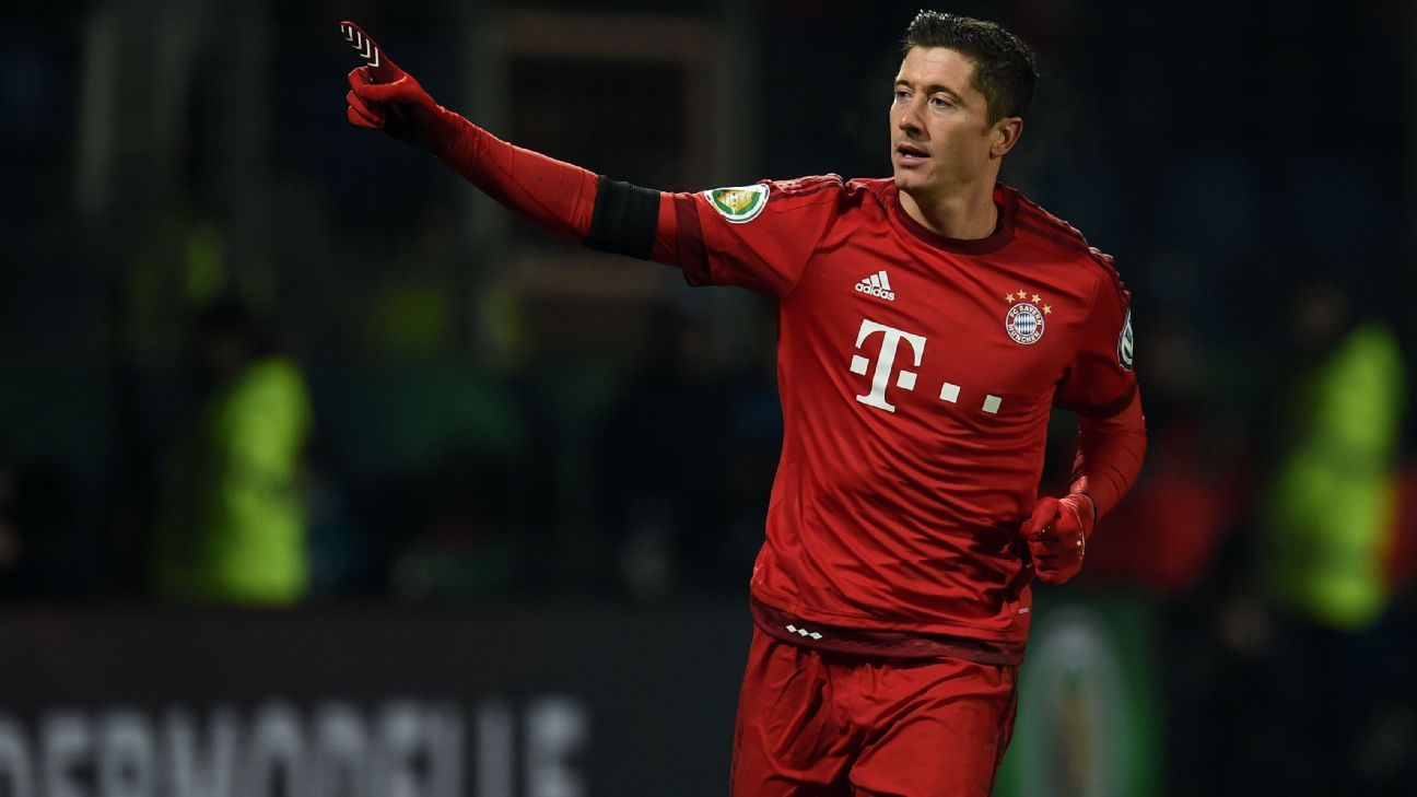 Bayern Munich's Treble hopes are very much intact thanks in part to Robert Lewandowski's brace in Wednesday's DFB-Pokal win at Bochum.