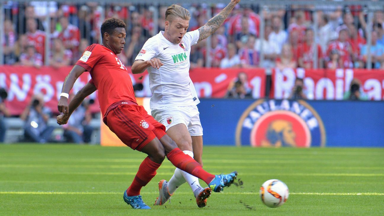 Augsburg are always a difficult opponent for David Alaba and Bayern Munich, as evidenced by Bayern's narrow 2-1 win last September.