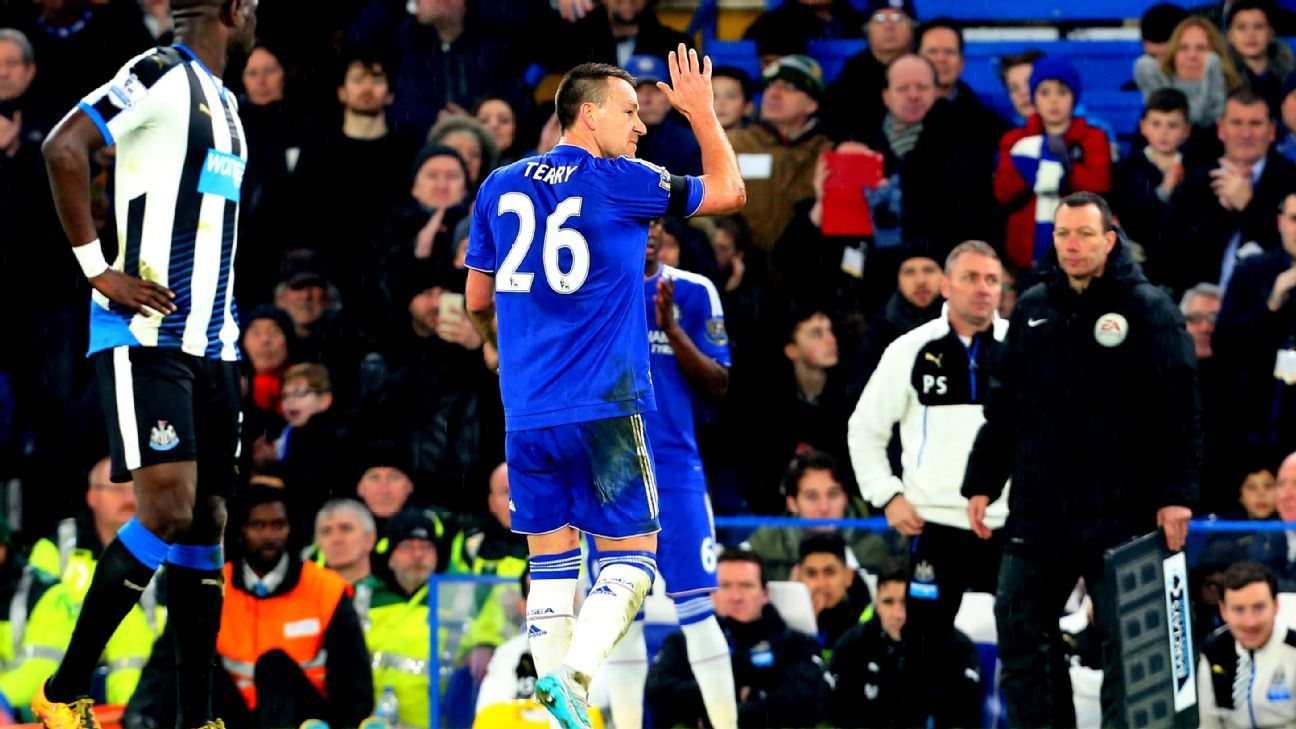 John Terry injured vs NUFC 160213