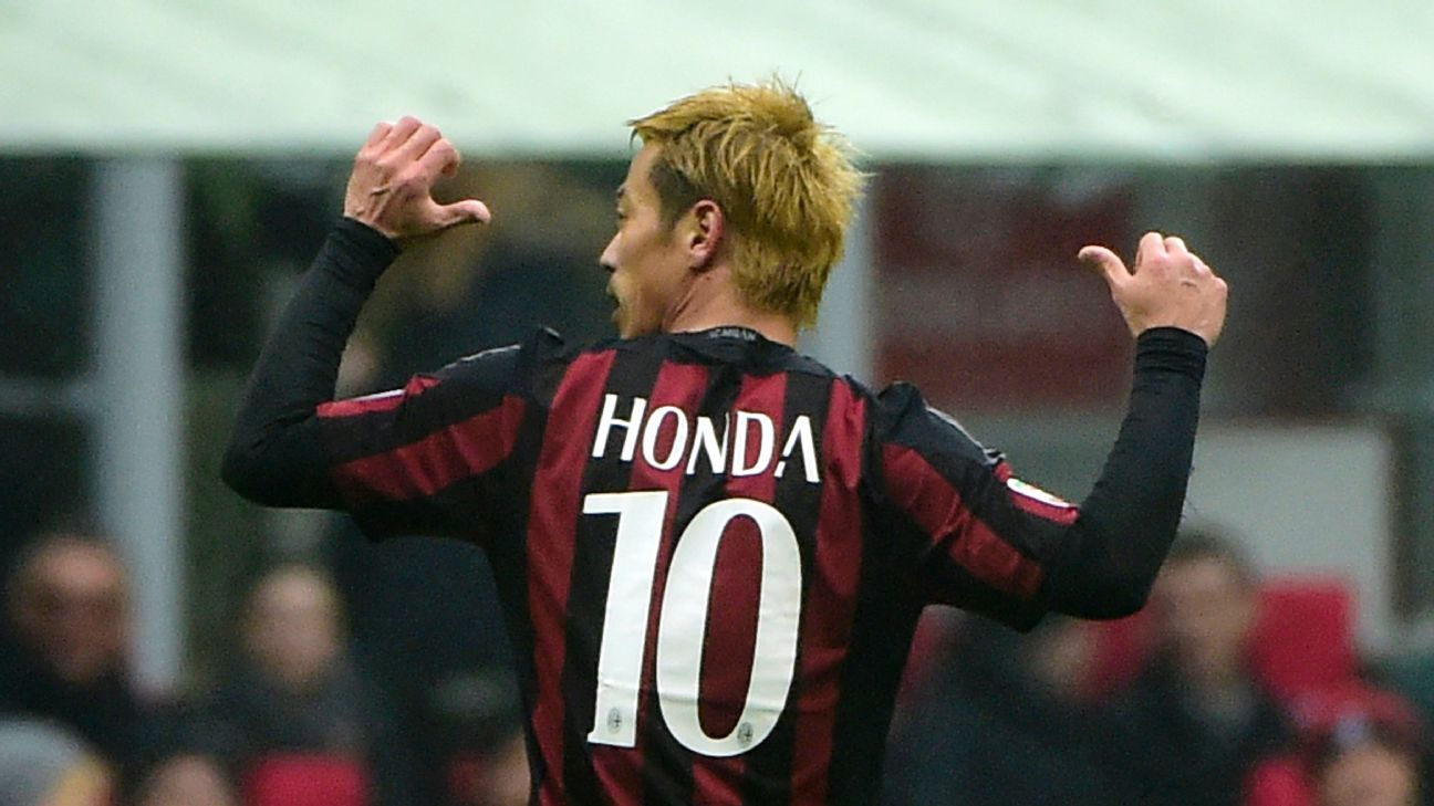 Keisuke Honda was on target for Milan with a key second half goal to lead the <i>Rossoneri</i> to a 2-1 win over Genoa.