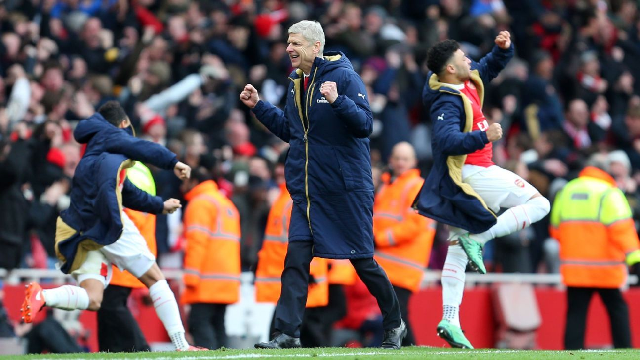 Arsenal boss Arsene Wenger had an inkling that his team would find a way to claim all three points against Leicester.