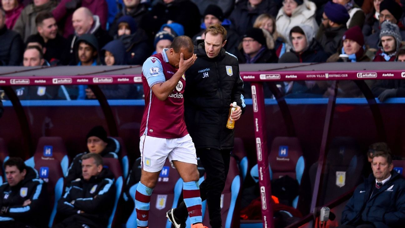 Gabby Agbonlahor made zero impact for Aston Villa prior to leaving the match with an injury.