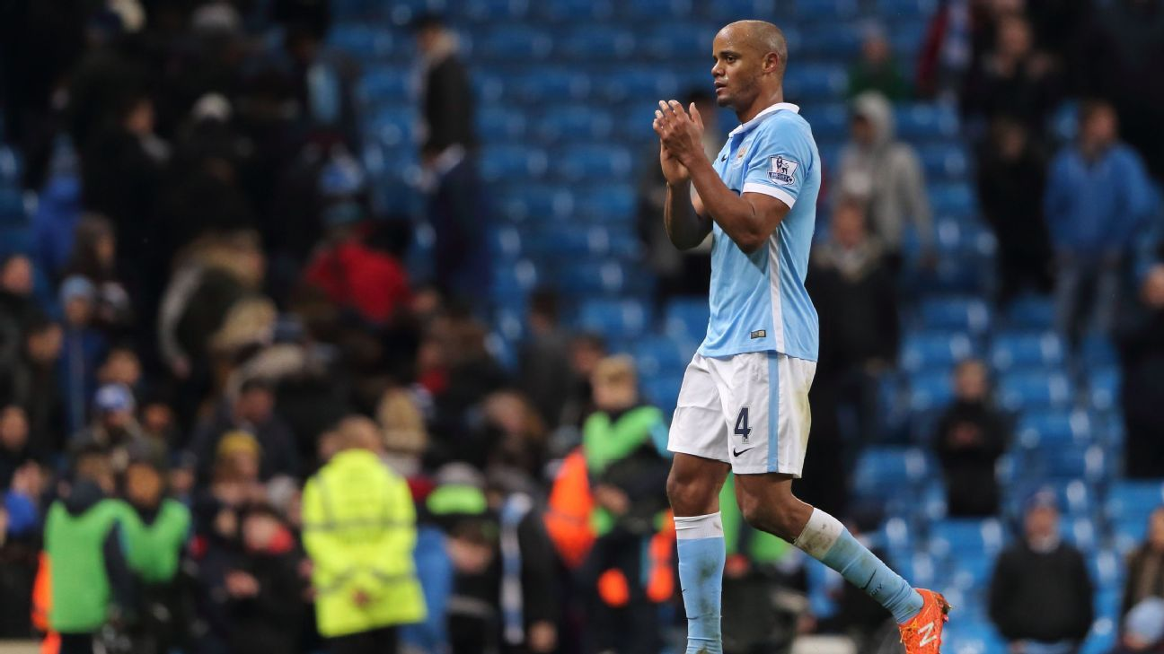 Despite defeat to Tottenham, Vincent Kompany was a calm and commanding presence in the City back line on Sunday.