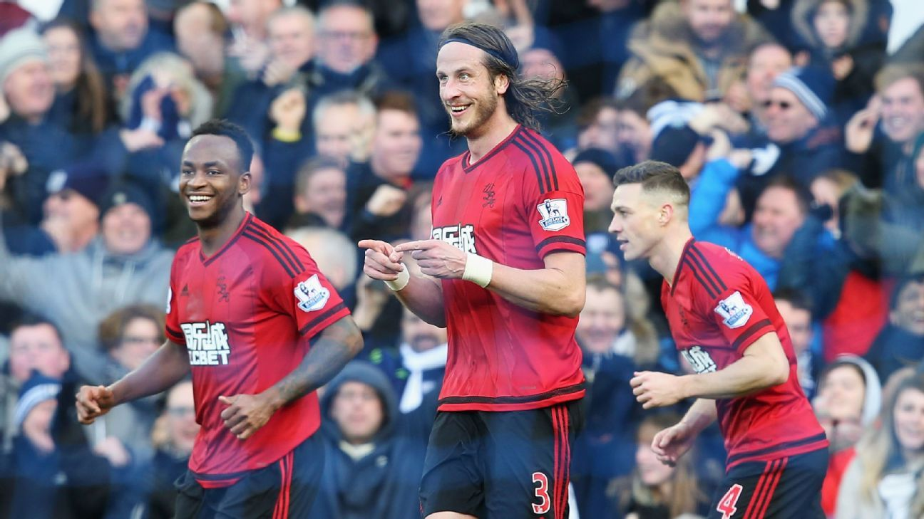 Jonas Olsson was the creative genius behind West Brom's winning goal at Everton.