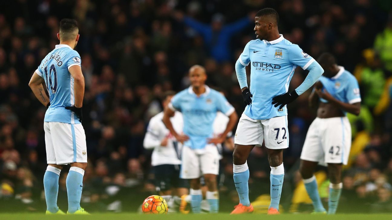 Manchester City were once again on the losing end of a top four clash in Sunday's 2-1 loss to Spurs.
