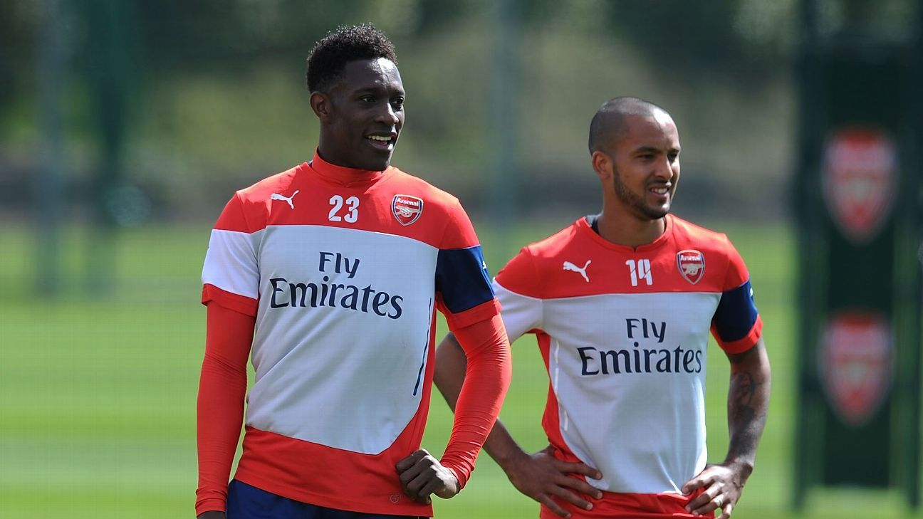 Being able to call on Danny Welbeck, left, or Theo Walcott, right, as a second half substitute could make all the difference for Arsenal in their run-in.