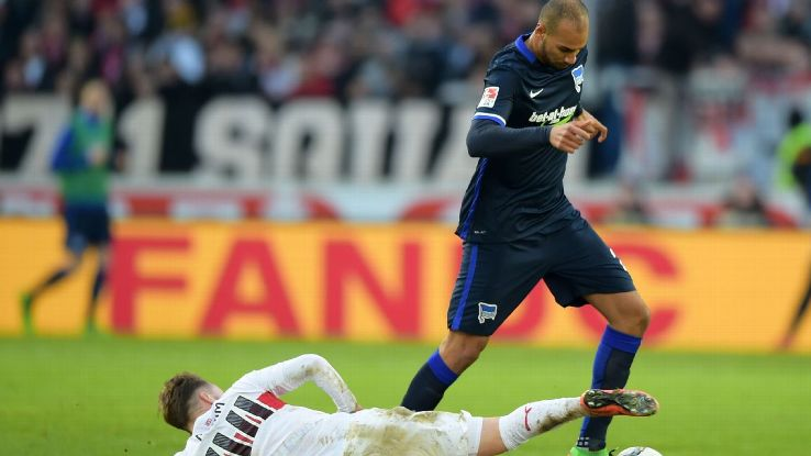 John Brooks has been a steady presence in Hertha Berlin's starting XI since early November.