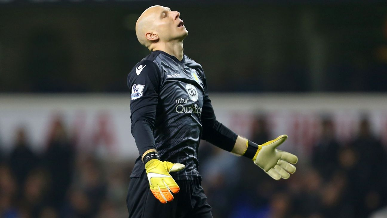 Brad Guzan's previous Premier League start for Aston Villa came back on Jan. 2 in a 3-1 loss to Sunderland.