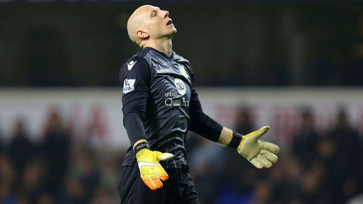 Brad Guzan's previous Premier League start for Aston Villa came back on Jan. 2 in a 3-1 loss to Sunderland.