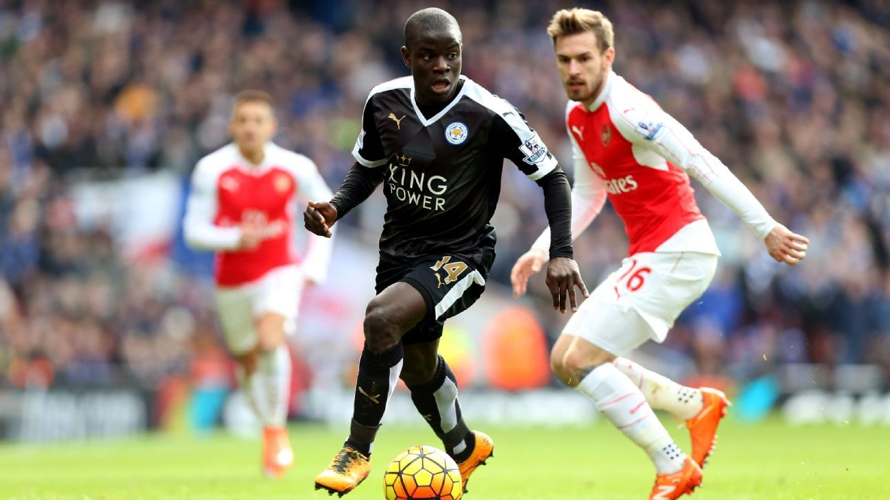 Even down a man, Leicester City matched Arsenal thanks to N'Golo Kante's impressive work rate.
