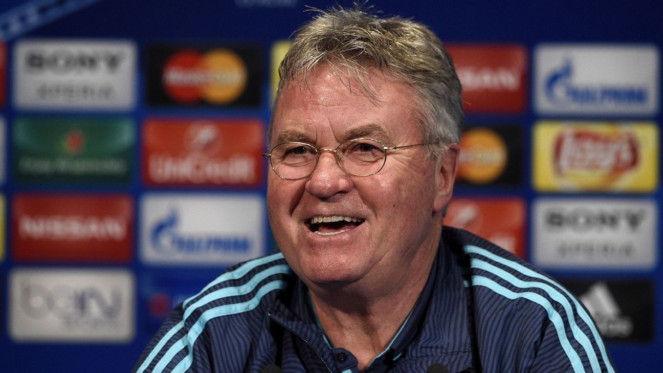 Chelsea boss Guus Hiddink is expected to field a strong lineup against Manchester City on Sunday.