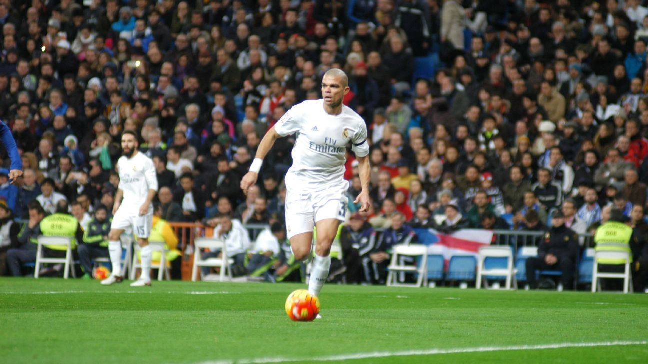 Pepe has not featured for Real Madrid since Jan. 24.