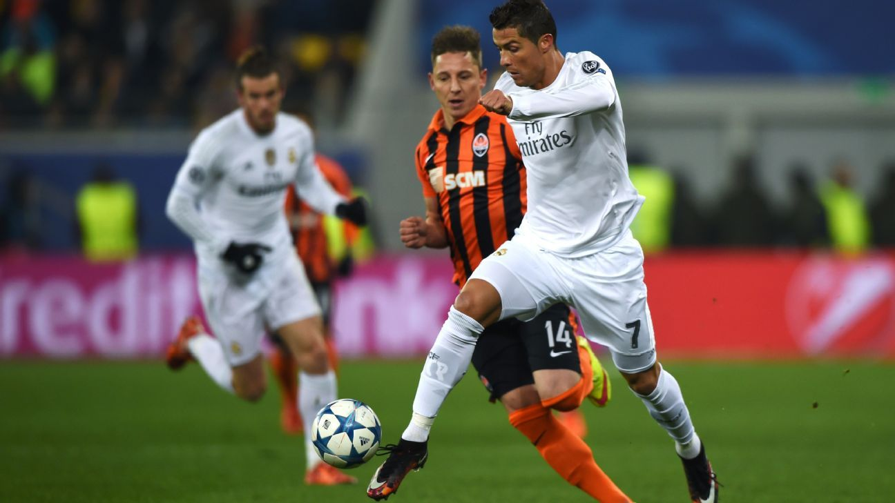 Cristiano Ronaldo was a one-man show during the group stage, scoring 11 goals in Real Madrid's six matches.