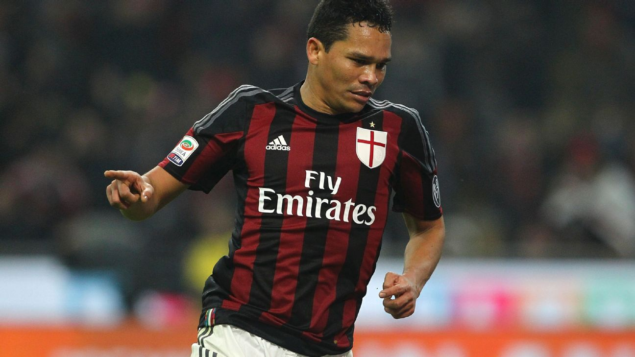 Carlos Bacca has 13 goals this season in Serie A for AC Milan.