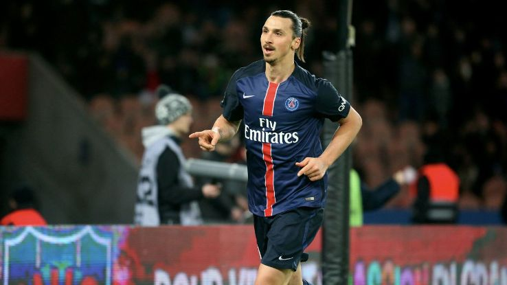 Zlatan Ibrahimovic now has 23 Ligue 1 goals this season after Saturday's brace vs. Reims.