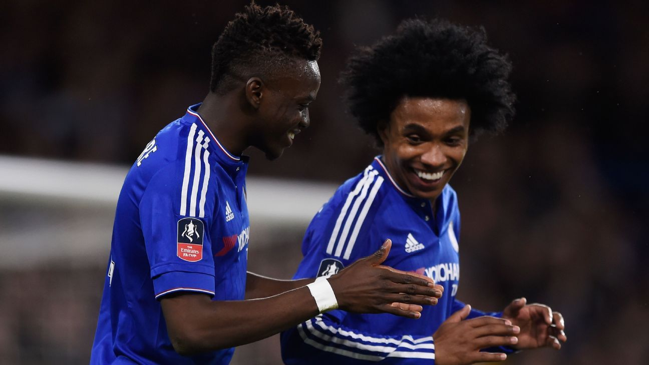 Bertrand Traore and Willian