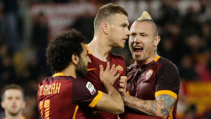 Image result for Napoli vs as roma 2016 edin dzeko