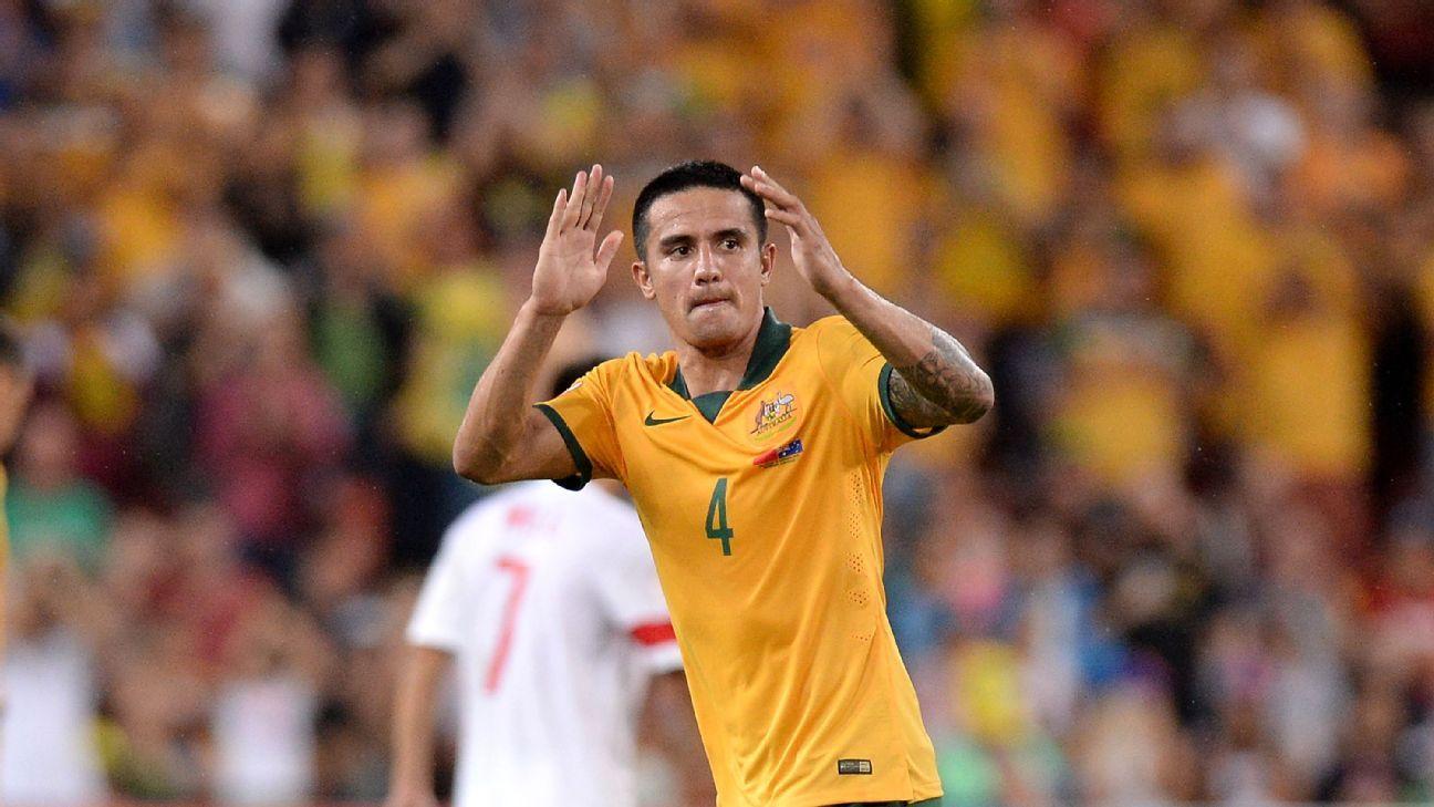 Australian midfielder Tim Cahill