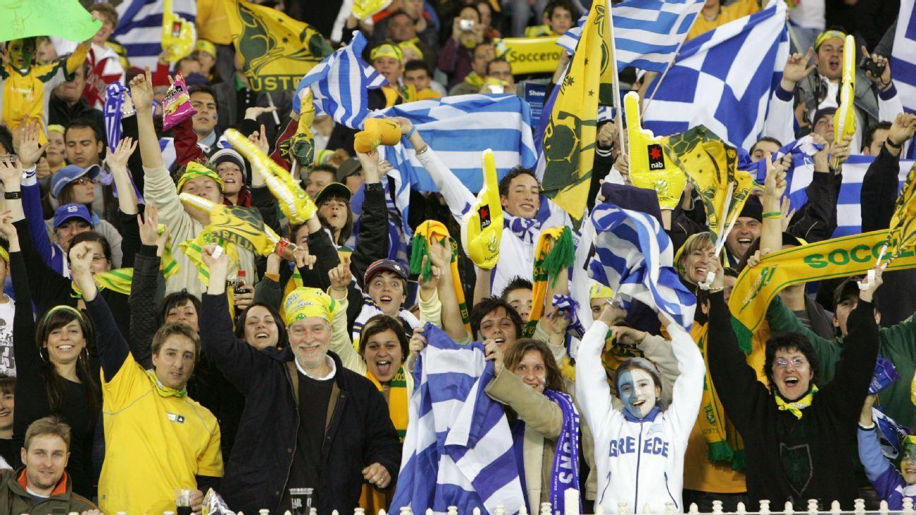 Australia & Greece fans