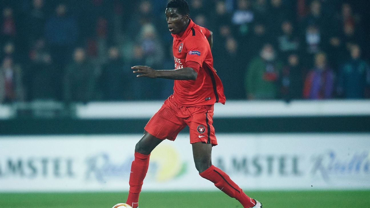 Paul Onuachu of FC Midtjylland