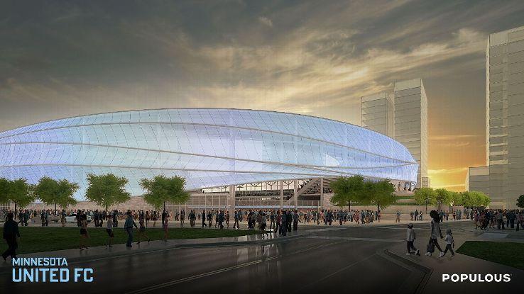 Minnesota United stadium rendering