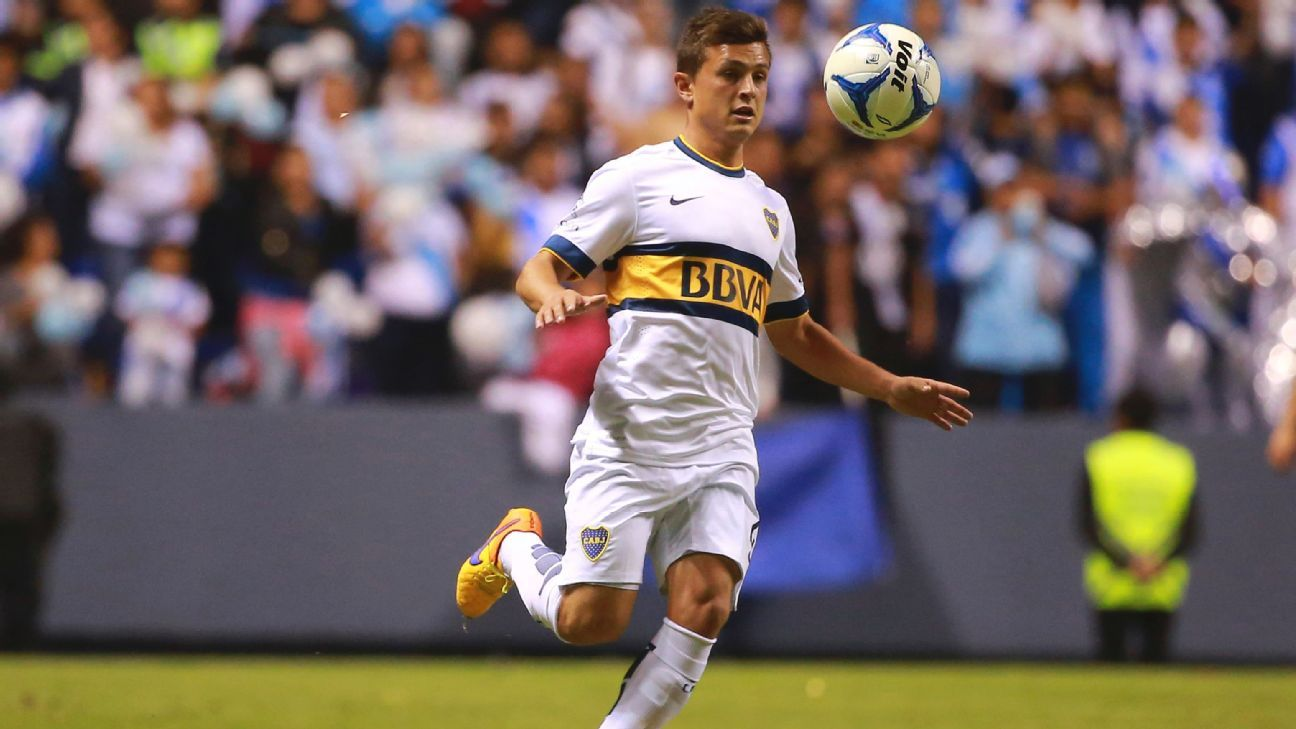 Boca Juniors midfielder Adrian Cubas